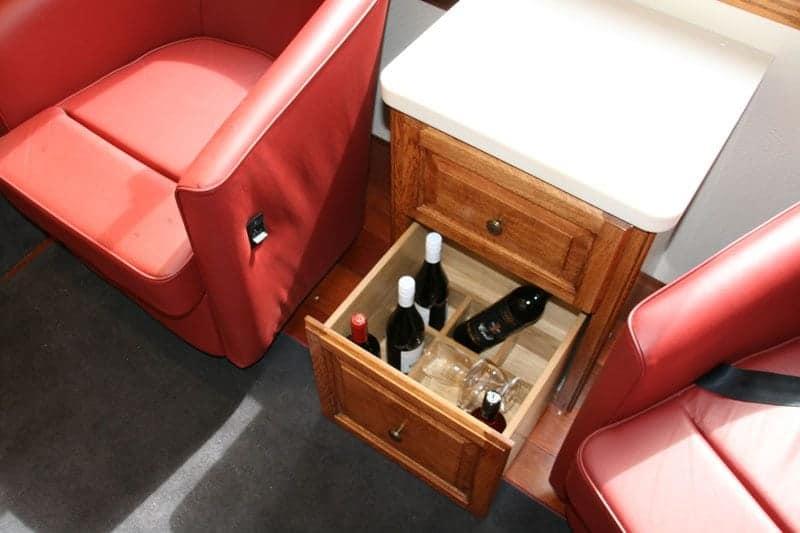 Fridge carcase modified to bespoke furniture