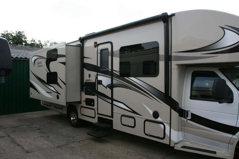 The Jayco Greyhawk right side view