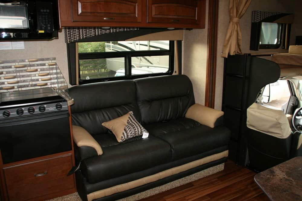The Jayco Greyhawk interior
