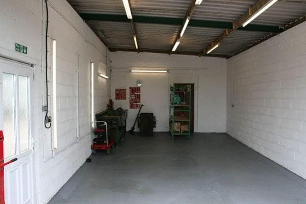 The generator servicing facility.