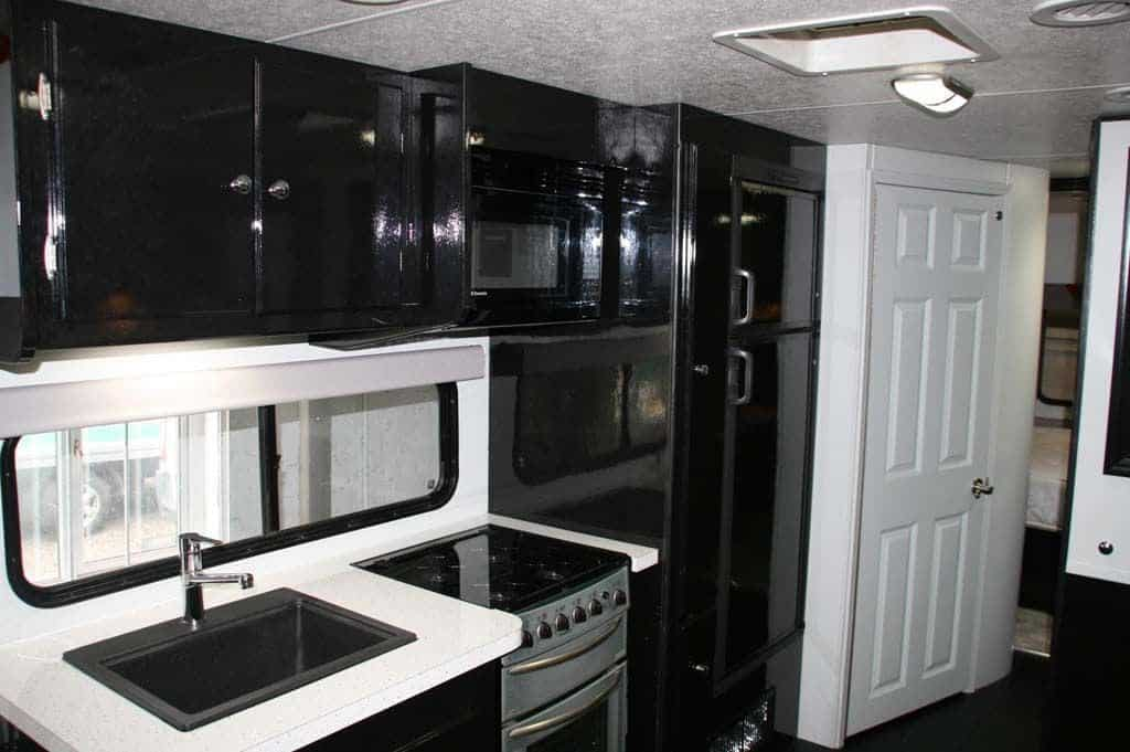 The completed kitchen area.