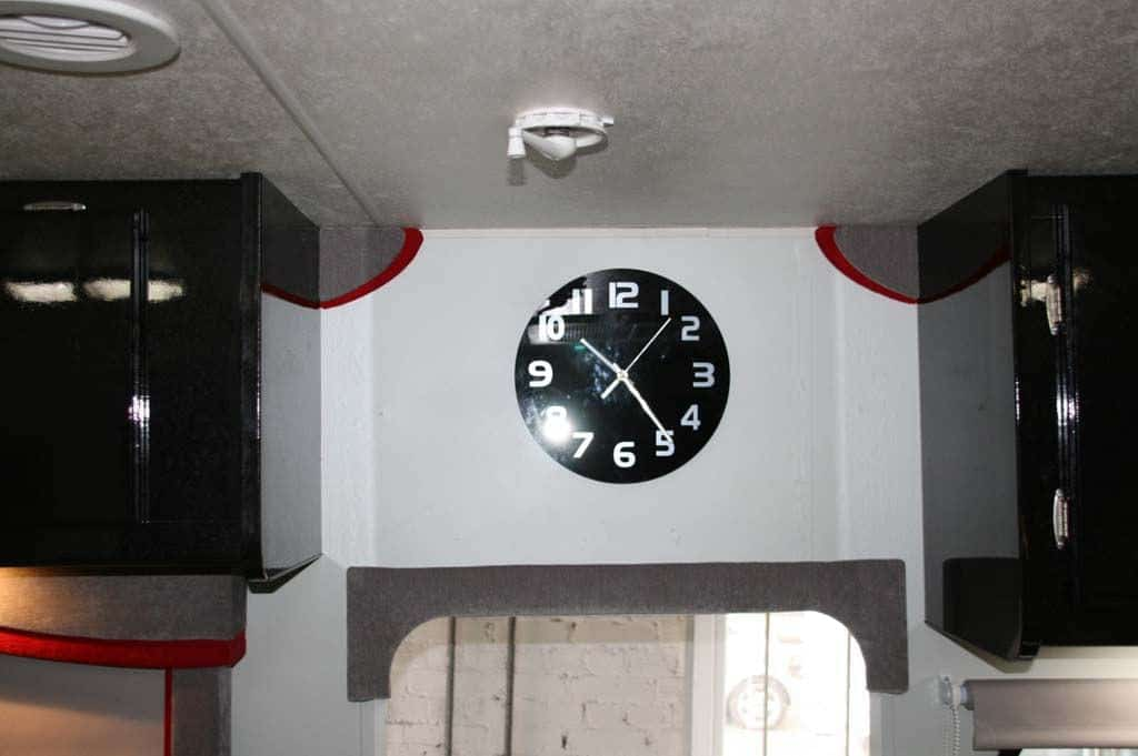 I think the little things can make the difference, the new wall clock.