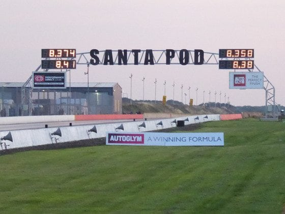 Santa Pod Timing Screens