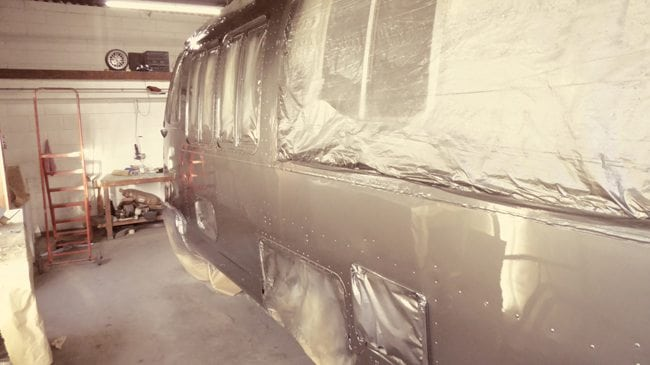 The Airstream Re-painting