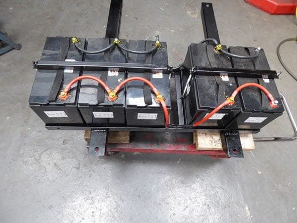 The bespoke battery tray