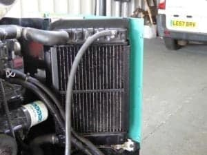 The radiator with a genuine oil filter fitted.