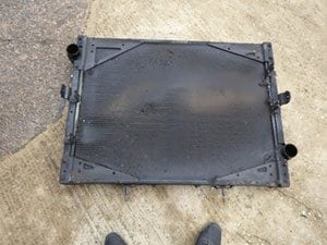 Radiator view when removed from the vehicle