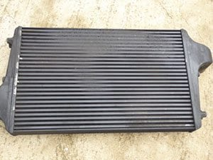The front side of the intercooler