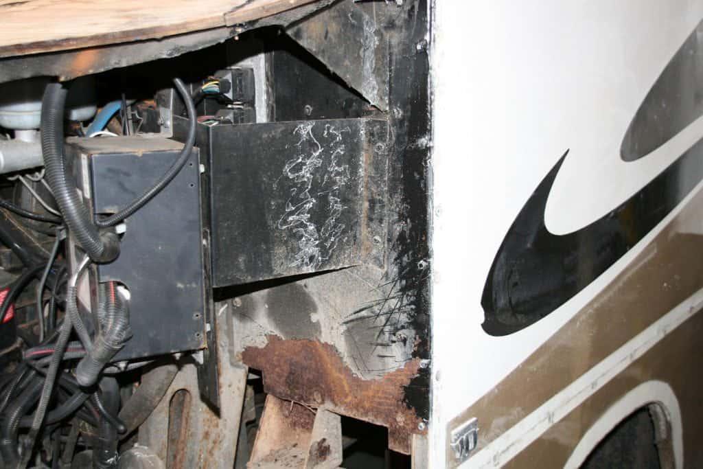 Fourwinds Hurricane Motorhome damage