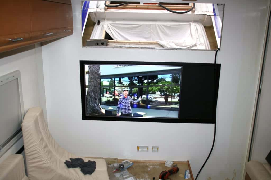 Interior view with TV